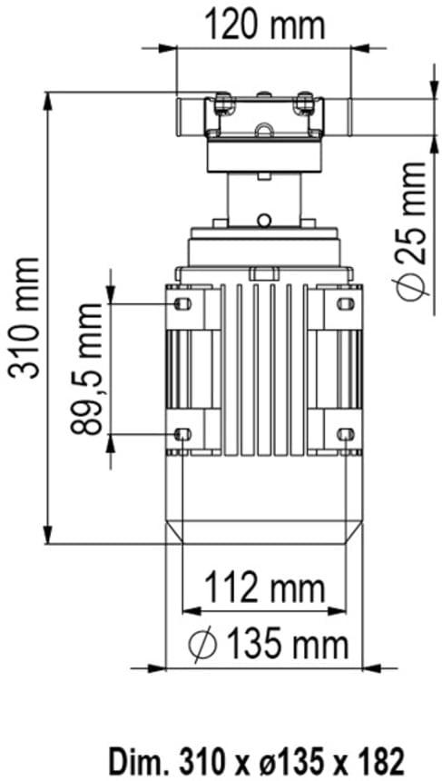 Marco UP1/AC 220V 50 Hz Pump rubber impeller 7.9 gpm - 30 l/min 4
