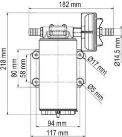 Marco UP10-XC Heavy duty pump 4.8 gpm - 18 l/min - AISI 316 L (24 Volt) 7
