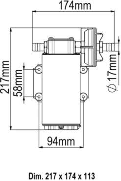 Marco UP12-P PTFE Gear pump 9.5 gpm - 36 l/min (24 Volt) 9