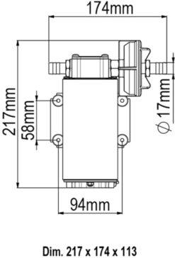 Marco UP12 Bronze gear pump 9.5 gpm - 36 l/min (24 Volt) 9