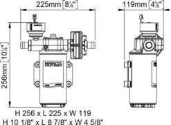 Marco UP14/E-BR 12/24V bronze gear pump with electronic pressure sensor 12.2 gpm - 46 l/min 13