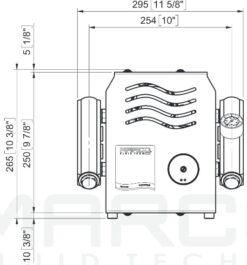 Marco UP14/E-DX 12/24V Electronic dual pump system + PCS 24 gpm - 92 l/min 15