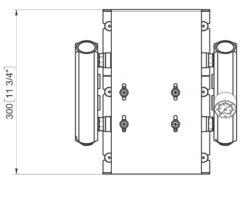 Marco UP14/E-DX 12/24V Electronic dual pump system + PCS 24 gpm - 92 l/min 14