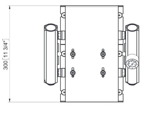 Marco UP14/E-DX 12/24V Electronic dual pump system + PCS 24 gpm - 92 l/min 6