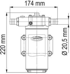 Marco UP14-P PTFE Gear pump 12.2 gpm - 46 l/min (24 Volt) 9