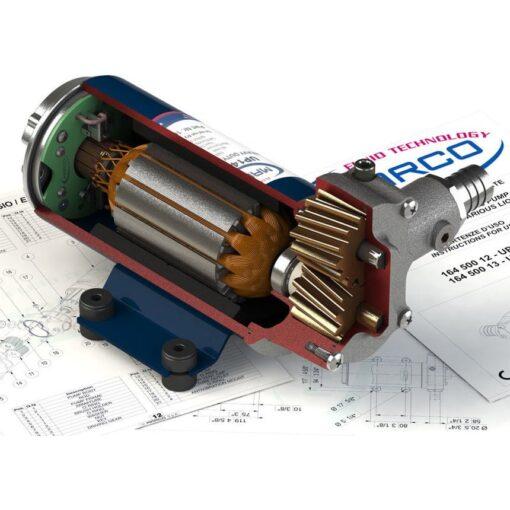 Marco UP14 Bronze gear pump 12.2 gpm - 46 l/min (12 Volt) 9