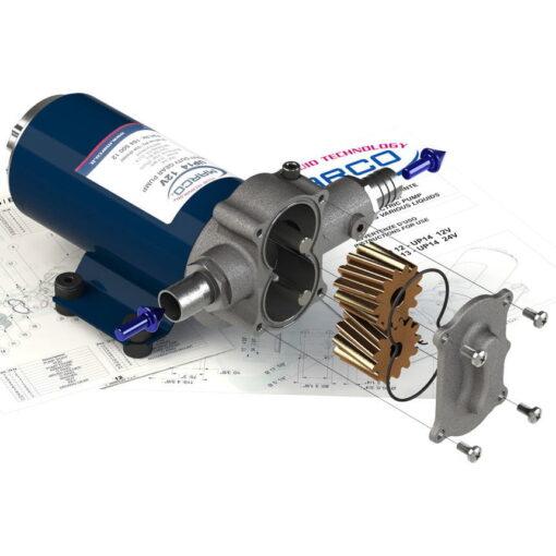 Marco UP14 Bronze gear pump 12.2 gpm - 46 l/min (12 Volt) 8