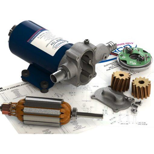 Marco UP14 Bronze gear pump 12.2 gpm - 46 l/min (12 Volt) 7