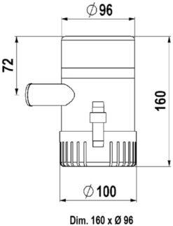 Marco UP1500 Submersible pump 1500 gph - 95 l/min (24 Volt) 6