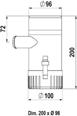 Marco UP2000 Submersible pump 2000 gph - 126 l/min (12 Volt) 8