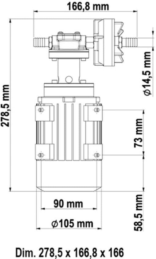 Marco UP3/AC 220V 50 Hz Gear pump 2.6 gpm - 10 l/min 6