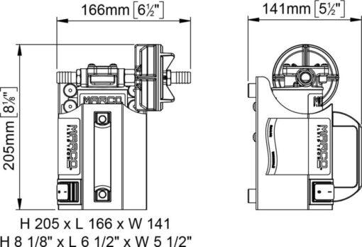 Marco UP3-CK Portable gear pump kit 4 gpm - 15 l/min (24 Volt) 5