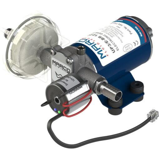 Marco UP3/E-BR 12/24V bronze gear pump with electronic pressure sensor 4 gpm - 15 l/min 3