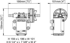 Marco UP3-PV PTFE Gear pump with check valve 4 gpm - 15 l/min (12 Volt) 9