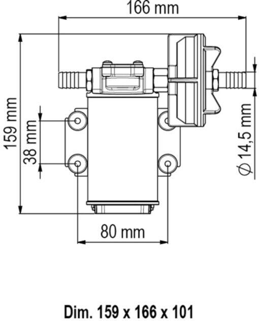 Marco UP3-P PTFE Gear pump 4 gpm - 15 l/min (12 Volt) 6