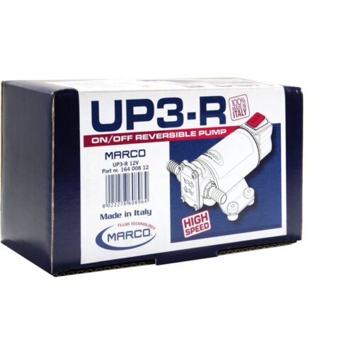 Marco UP3-R Gear pump 4 gpm - 15 l/min with integr. reversible switch (12 Volt) 7