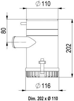 Marco UP3700 Submersible pump 3700 gph - 233 l/min (24 Volt) 6