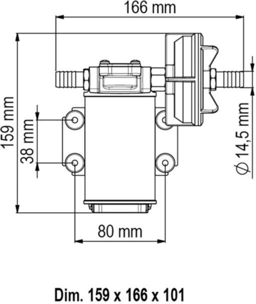 Marco UP3 Bronze gear pump 4 gpm - 15 l/min (12 Volt) 6