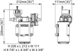 Marco UP6/E-BR 12/24V bronze gear pump with electronic pressure sensor 6.9 gpm - 26 l/min 12