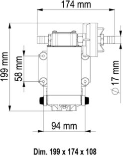 Marco UP6 Bronze gear pump 6.9 gpm - 26 l/min (24 Volt) 9