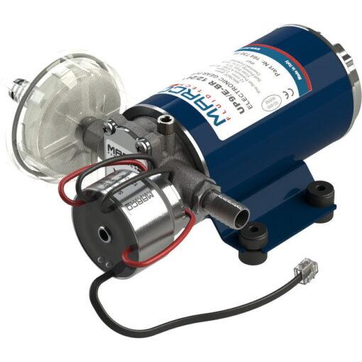 Marco UP9/E-BR 12/24V bronze gear pump with electronic pressure sensor 3.2 gpm - 12 l/min 3