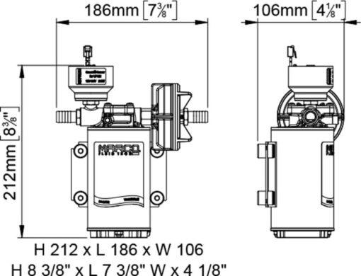 Marco UP9/E-BR 12/24V bronze gear pump with electronic pressure sensor 3.2 gpm - 12 l/min 7