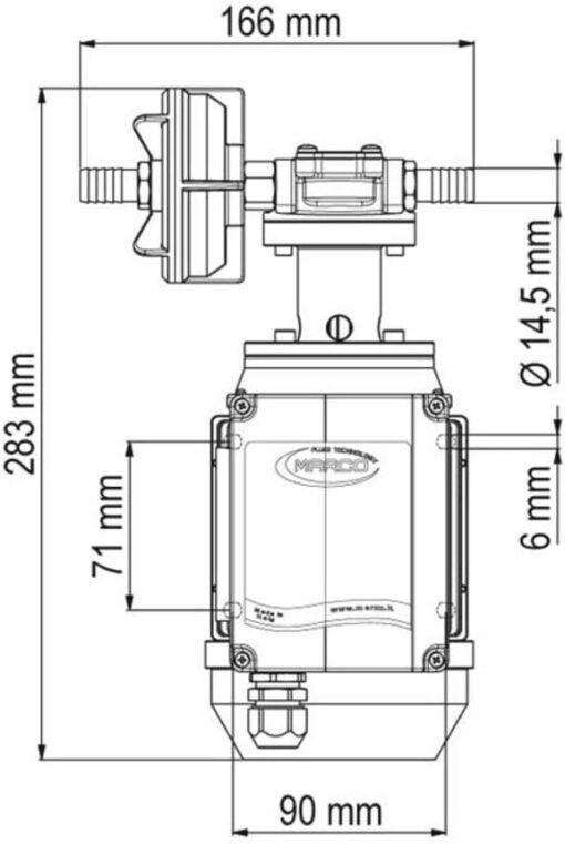 Marco UPX/AC Gear pump 2.6 gpm - 10 l/min - s.s. AISI 316 L (220 Volt) 6