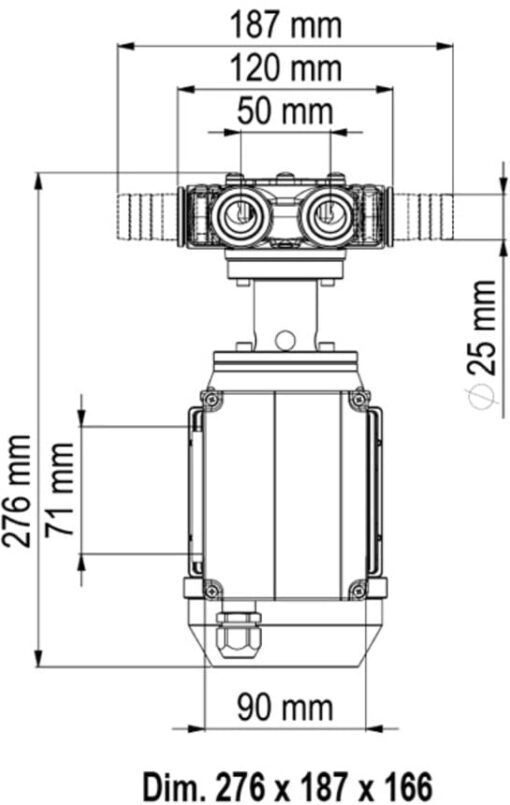 Marco VP45/AC 220 V 50 Hz Vane pump 9.25 gpm - 35 l/min 6
