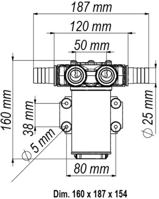 Marco VP45-N Vane pump 11 gpm - 45 l/min (24 Volt) 6