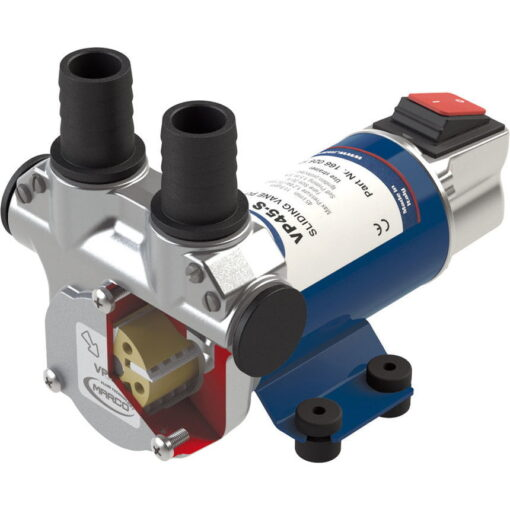 Marco VP45-S Vane pump 11 gpm - 45 l/min with integrated on/off switch (12 Volt) 3