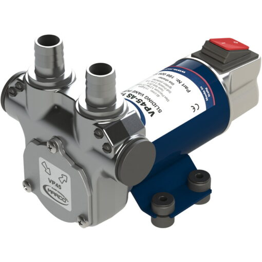 Marco VP45A-S Vane pump with on/off switch 11 gpm - 45 l/min, brass fittings (24 Volt) 3
