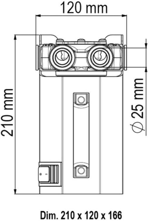 Marco VP45 Battery kit with 11 gpm - 45 l/min vane pump (12 Volt) 4
