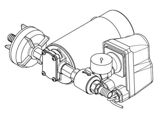 Marco DP12 Deck washing pump kit 5 bar - 72.5 psi (24 Volt) 7
