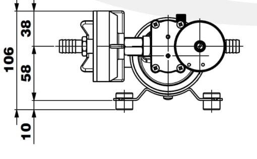 Marco DP12/E Deck washing pump + electronic control 5 bar - 72.5 psi 7