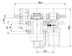 Marco DP3 Deck washing pump kit 3 bar - 43.5 psi (12 Volt) 8
