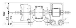 Marco DP3 Deck washing pump kit 3 bar - 43.5 psi (12 Volt) 11