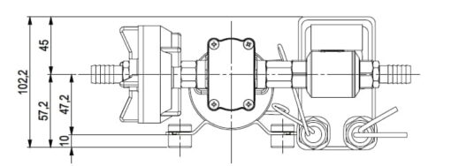 Marco DP3 Deck washing pump kit 3 bar - 43.5 psi (12 Volt) 7