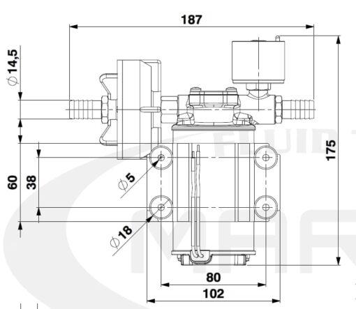 Marco DP3/E Deck washing pump + electronic control 3 bar - 43.5 psi 4