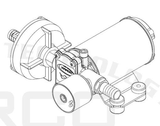 Marco DP3/E Deck washing pump + electronic control 3 bar - 43.5 psi 7