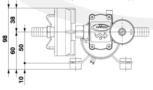 Marco DP3/E Deck washing pump + electronic control 3 bar - 43.5 psi 5