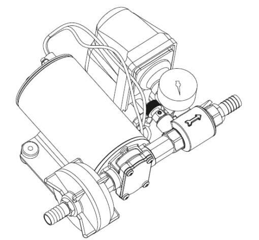 Marco DP9 Deck washing pump kit 4 bar - 58 psi (24 Volt) 4