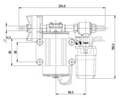Marco DP9 Deck washing pump kit 4 bar - 58 psi (24 Volt) 11