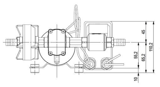 Marco DP9 Deck washing pump kit 4 bar - 58 psi (24 Volt) 6