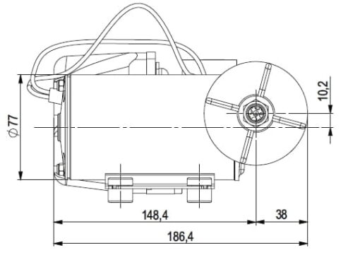 Marco DP9 Deck washing pump kit 4 bar - 58 psi (24 Volt) 5