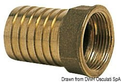 "Cast brass female hose adaptor 1"" x 30 mm 3"