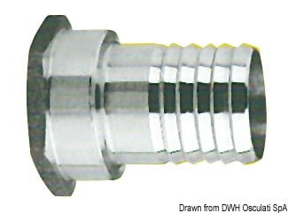 "SS female hose adaptor 3/4"" x 25 mm 3"