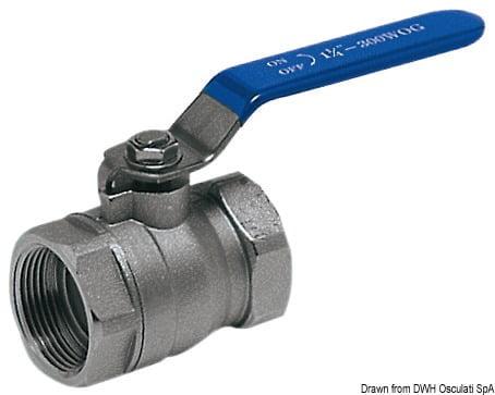 """Ball valve chromed brass 1""""1/2 3"""