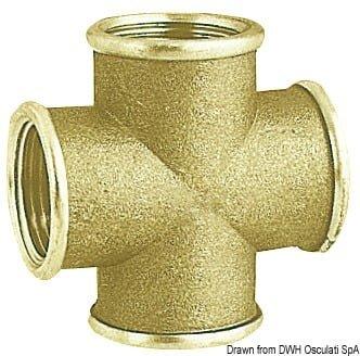 "Brass cross joint female 3/8"" 3"