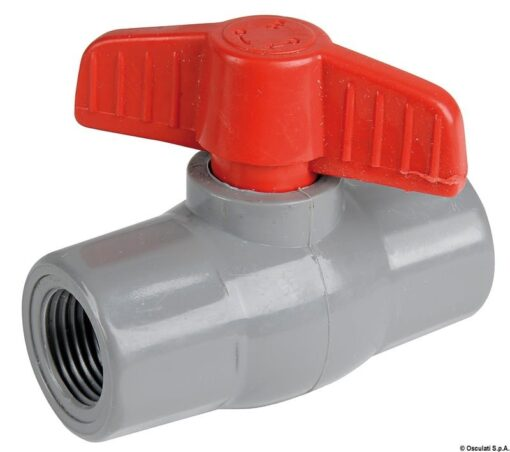 "Polypropylene/nylon ball valve 3/4"" 3"
