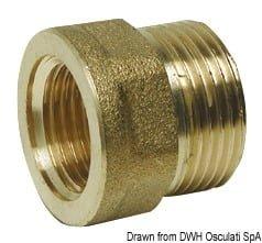 "Brass joint sleeve male/female 3/4"" x 1/2"" 3"